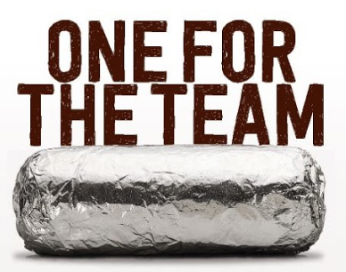 One for the team--Chipotle Burrito