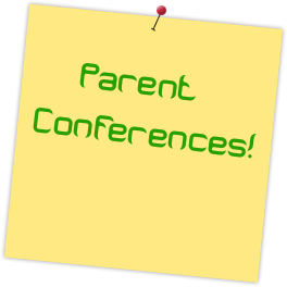 Parent Conference Stickie Note