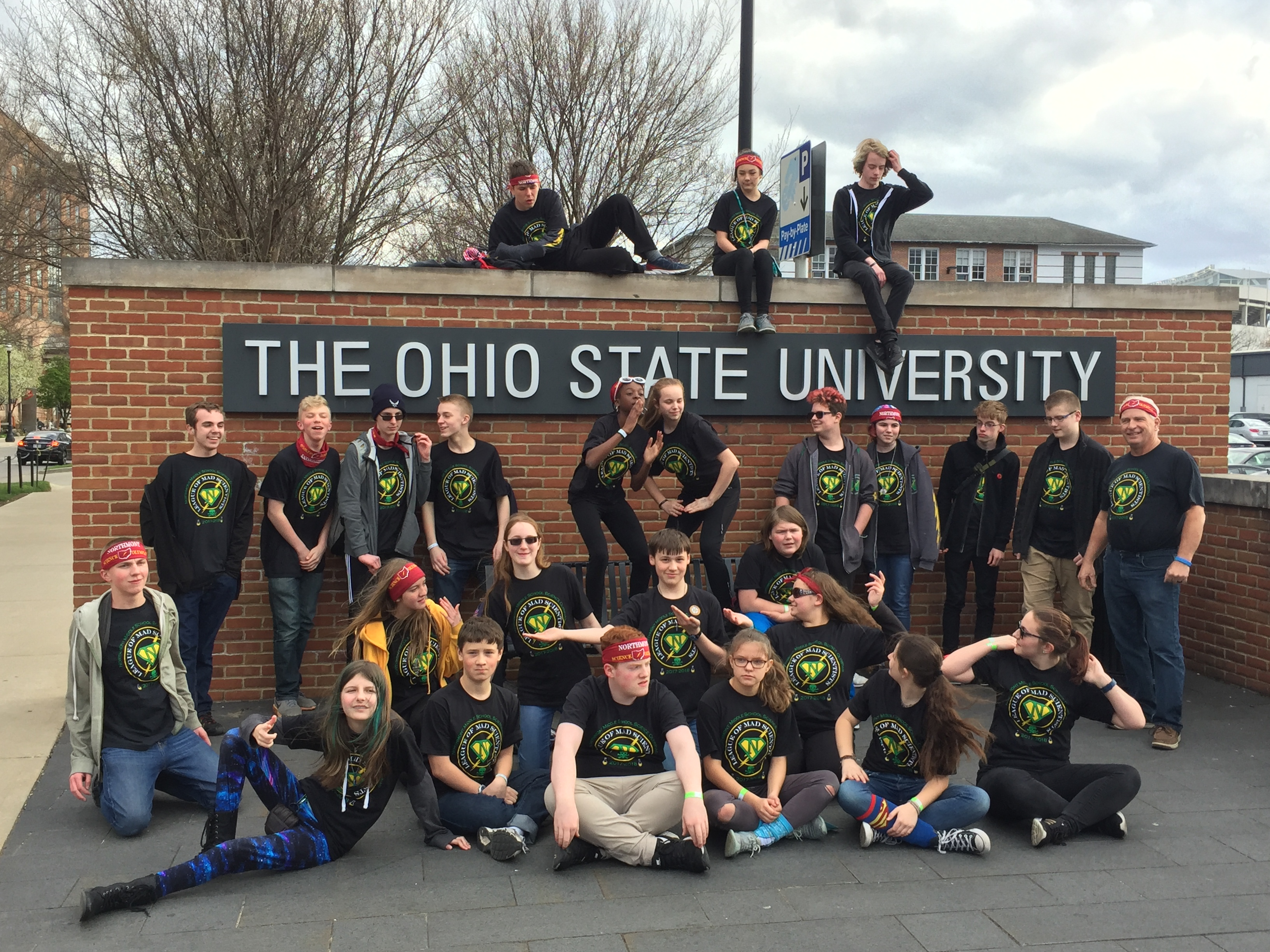 Science Olympiad kids at Ohio State.