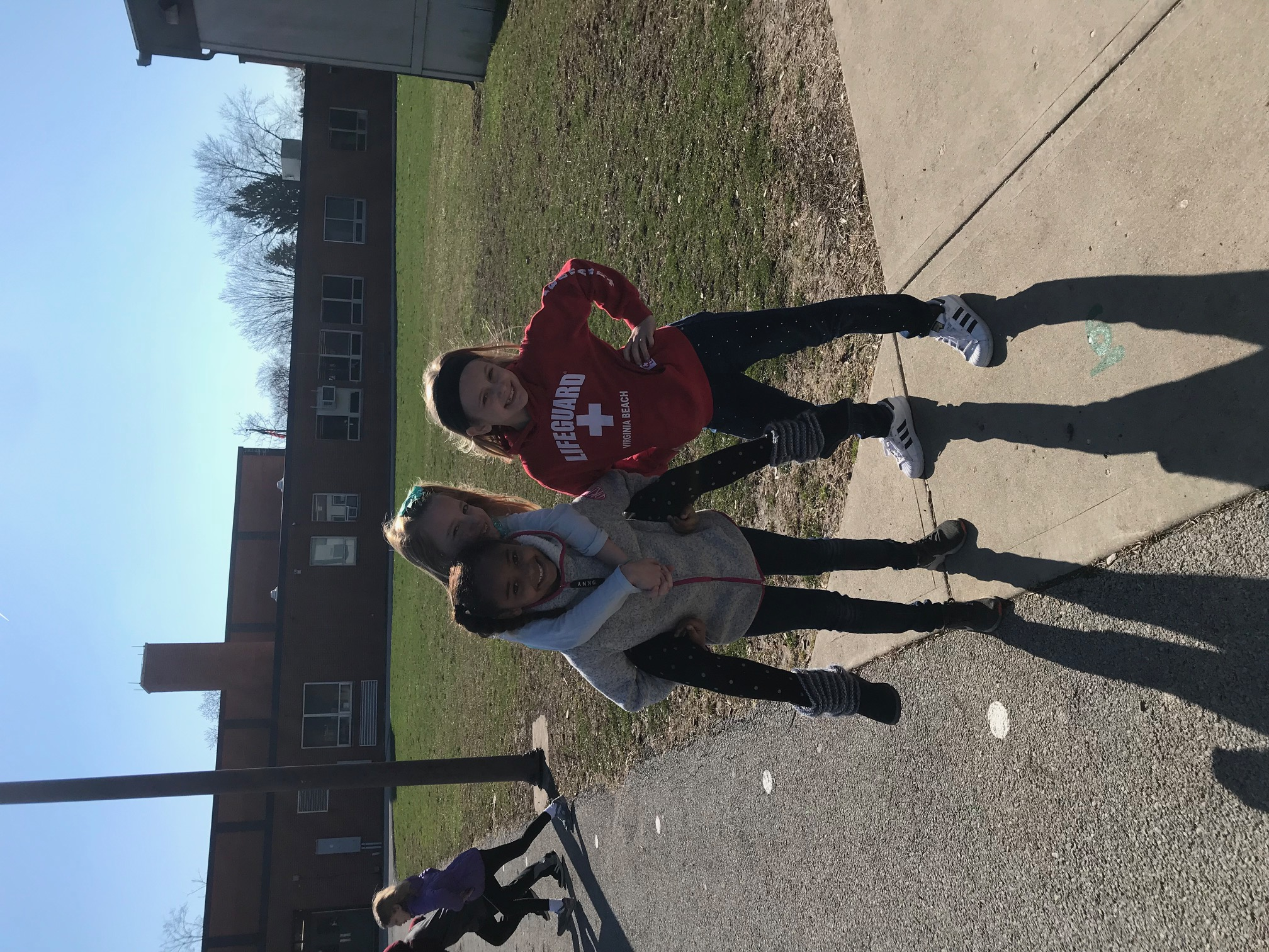 Mrs. Miller's students enjoying extra recess.