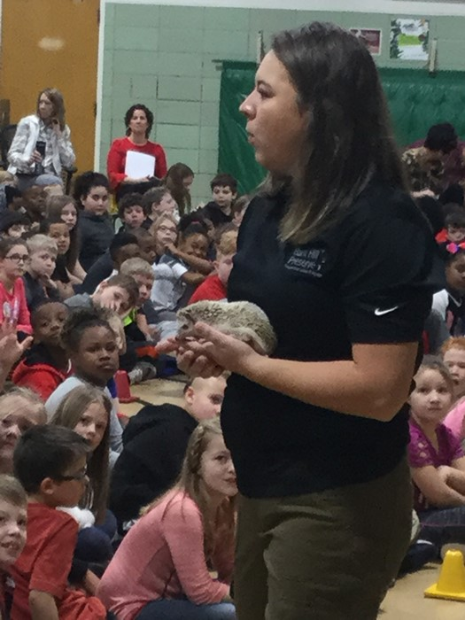 naturalist showing animals