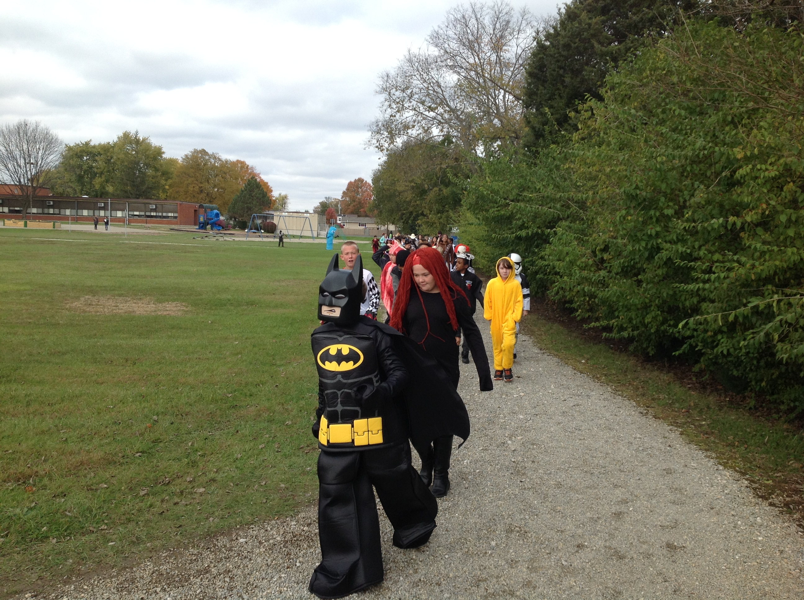 5th Grade Halloween Parade on Track