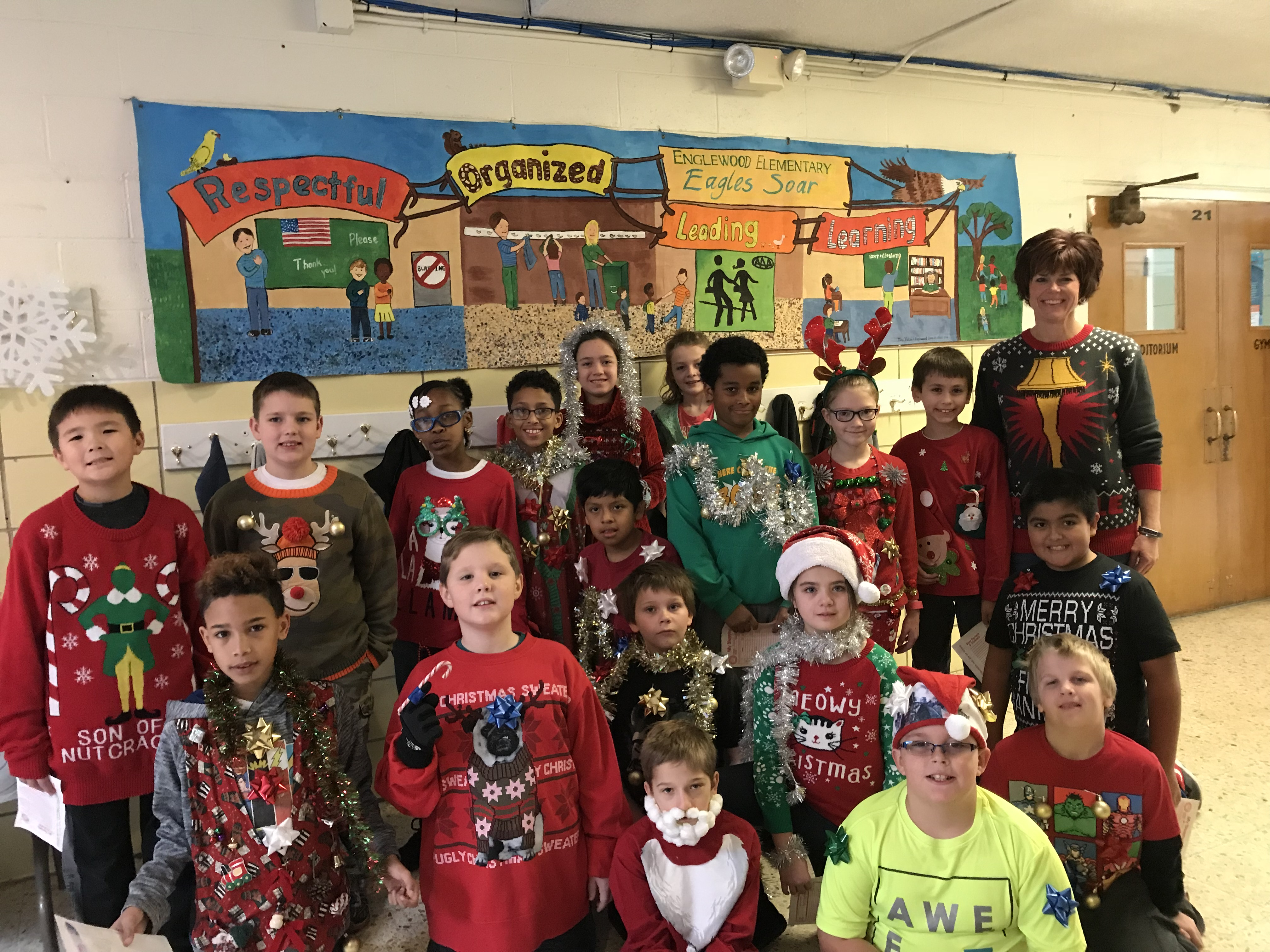 kids on Ugly Sweater Day